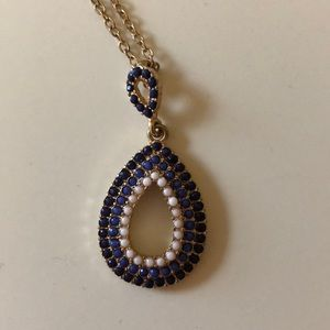 Jewelry - Blue and white beaded necklace